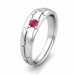 mens 3 stone diamond ruby wedding band 14k gold my love With mens ruby wedding rings