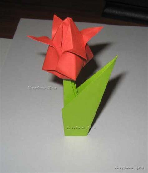 Оригами цветок тюльпан схемы