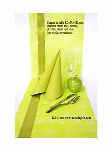 Chemin De Table Vert : 10m chemin de table romance vert anis ~ Teatrodelosmanantiales.com Idées de Décoration