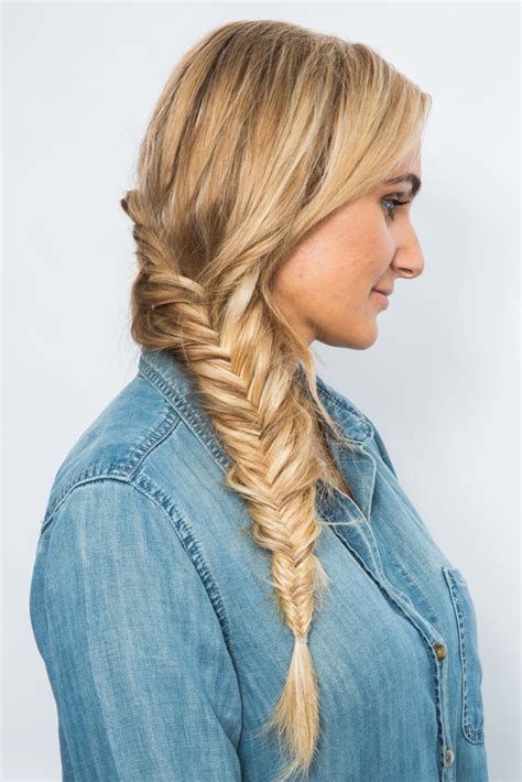 dutch  fishtail braid tutorial popsugar beauty