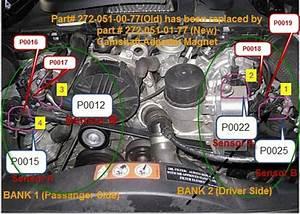 2008-ml350 P0019-crankshaft Position-camshaft Position Correlation  Bank 2 Sensor B