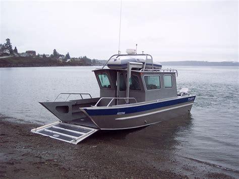 Ocean Craft Aluminum Boats by 26 San Juan Landing Craft Cabin Aluminum Boat By Silver