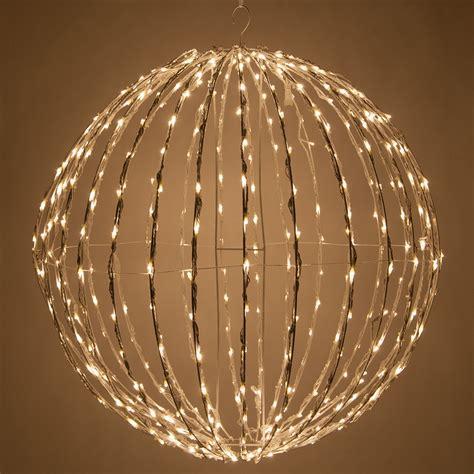 warm white led christmas light ball fold flat white frame
