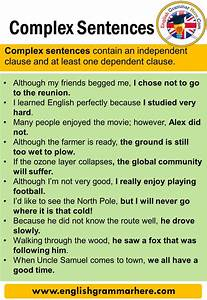 Complex Sentences  Definition And Examples