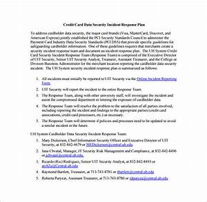 cyber incident response plan template format of computer With cyber incident response plan template