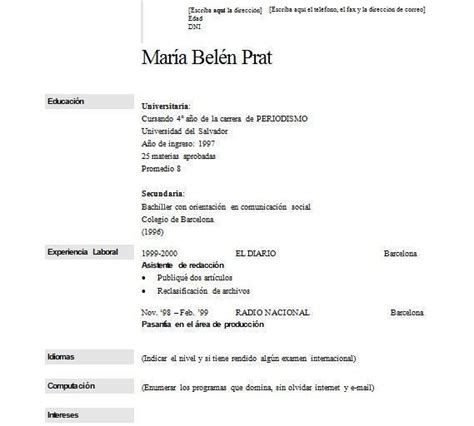 Cómo Hacer Un Currículum Vitae B. Letter Of Intent Example Employment. Free Resume Uk. Cover Letter For Resume Secretary. Resume Writing Workshops. Creation Curriculum Vitae Gratuit. Cover Letter Nursing Faculty Position Sample. Ejemplos De Curriculum Vitae Para Profesionales. Resume Objective Examples Social Work