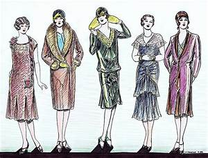 1920s Fashions Drawing by Mel Thompson