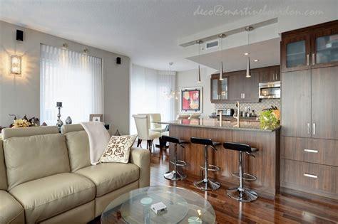 cuisine salon aire ouverte condo décor chic et accueillant martine bourdon