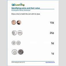 Free Preschool & Kindergarten Money Worksheets  Printable  K5 Learning