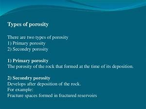 Porosity And Types