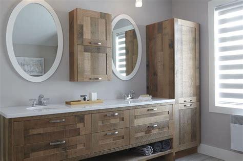 armoires de salle de bains de styles contemporain et