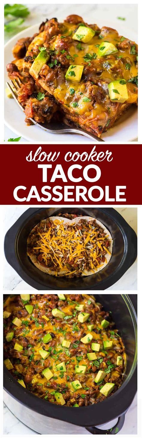 Taco Casserole {Healthy Slow Cooker Recipe} - WellPlated.com