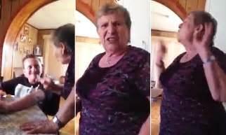 Grandmother's hilarious reaction after boy pranks her over ...