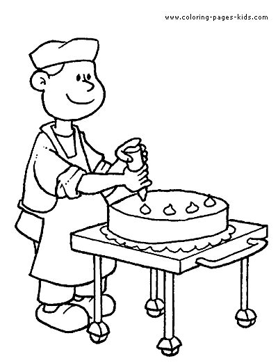 job color page coloring pages  kids family people
