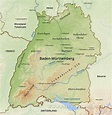 Baden Württemberg Physical Map
