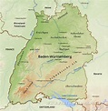Baden Württemberg Physical Map