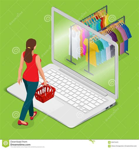 warehouse shopping online grocery store illustration ecommerce and shopping concept vector