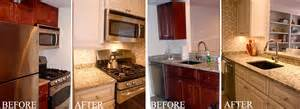 Repaint Kitchen Cabinet by Kitchen Cabinet Painting Before Amp After Arteriors