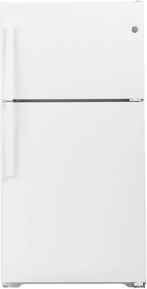 ge  cu ft white top freezer refrigerator gtejtnrww spencers tv appliances