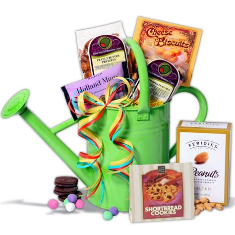 watering can gardening gift basket