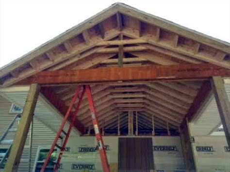 build gable roof  deck porch youtube