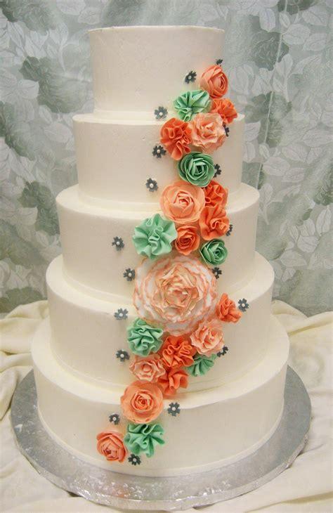 Amelia Wedding Cake Design Smooth Buttercream Frosting