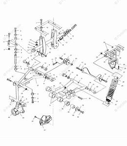 Polaris Atv 2001 Oem Parts Diagram For Rear Suspension