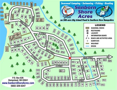 Sanborn Shore Acres Campground  Site Map & Rules