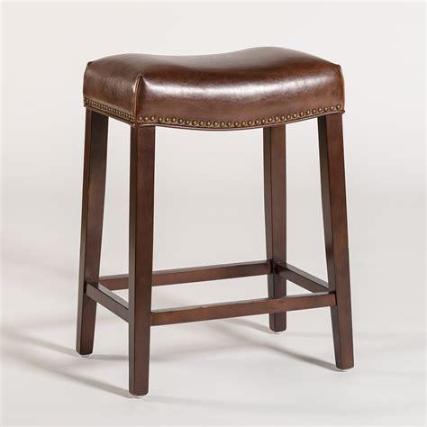 Saddle Bar Stool  Alder & Tweed Furniture