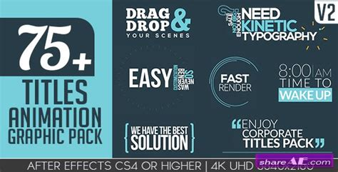 graphic design titles videohive titles animation graphic pack v2 187 free after