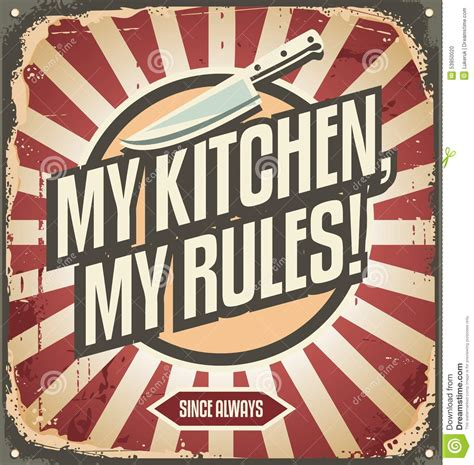 affiche cuisine vintage vintage kitchen sign stock vector image 53950020