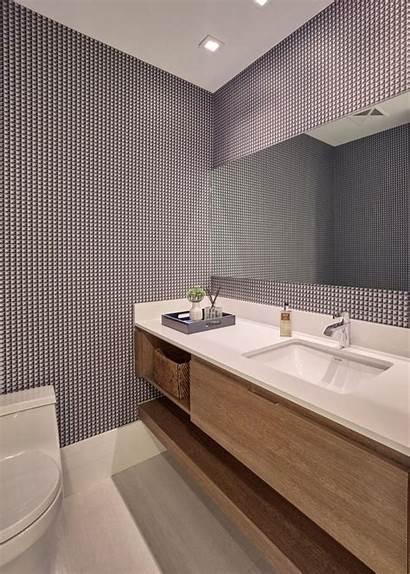 Modern Powder Wallpapers Contemporary Hgtv Bathroom Gray