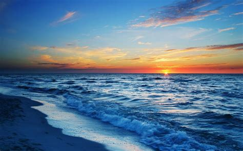 黄昏的大海屏保壁纸,高清图片,壁纸,自然风景-桌面城市