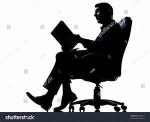 One Caucasian Business Man Sitting Armchair Stock Photo ...