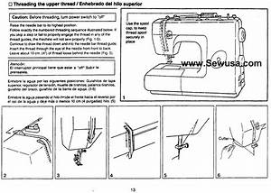 Euro Pro 7100 Sewing Machine Threading Diagram