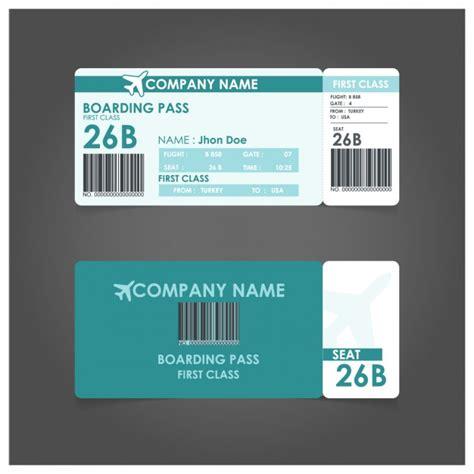 Boarding Pass Template Boarding Pass Template Vector Free