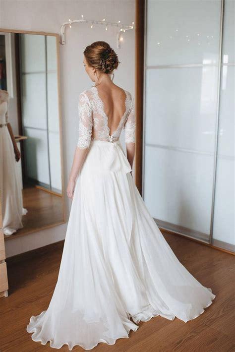 A Line Wedding Dress A Line Style Simple Wedding Dress