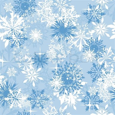 winter christmas theme seamless snowflakes background for winter and christmas theme stock vector colourbox
