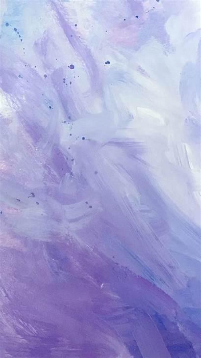Purple Paint Iphone Phone Strokes Trendy Marble