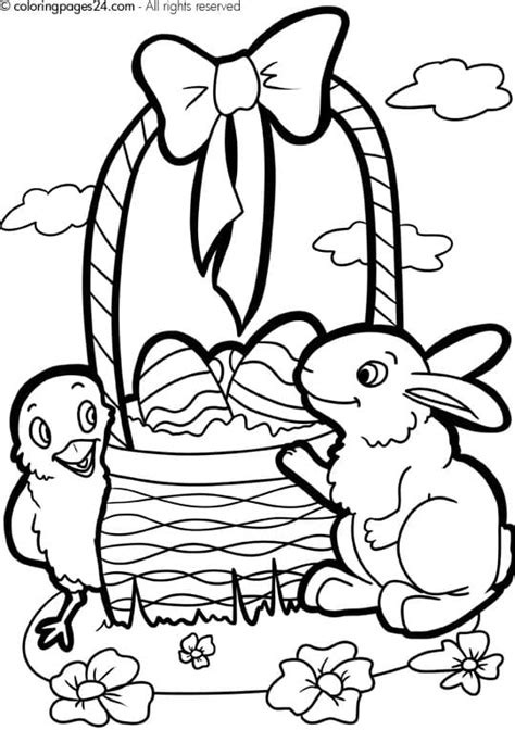 Easter Color Pages Printable by Printable Easter Coloring Pages