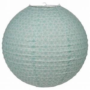 Boule En Papier : lanterne boule en papier nature 45cm bleu ~ Teatrodelosmanantiales.com Idées de Décoration