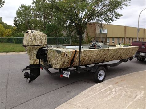 Camo Boat by Jon Boat Wrapped With Total Camo Camouflage Camo Wrap