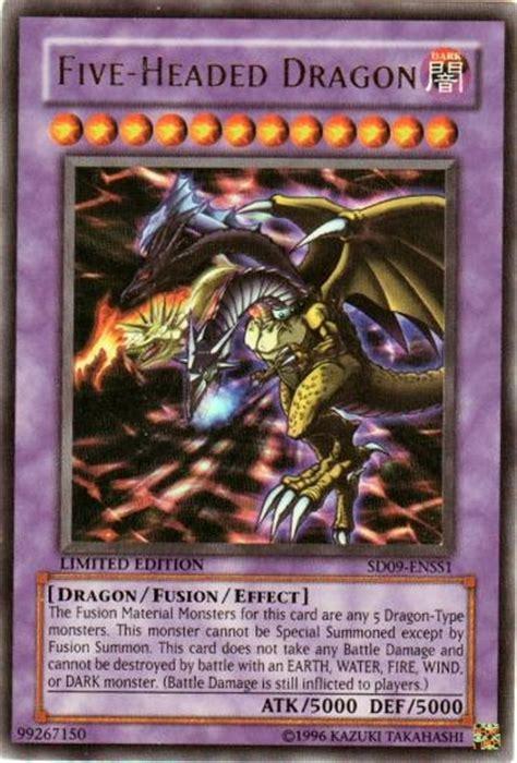 yu gi oh sd dinosaur s rage single five headed dragon