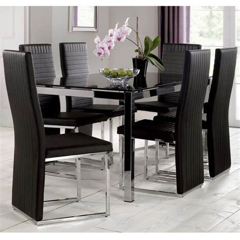 black table restaurant tempo black dining table with black chairs fads