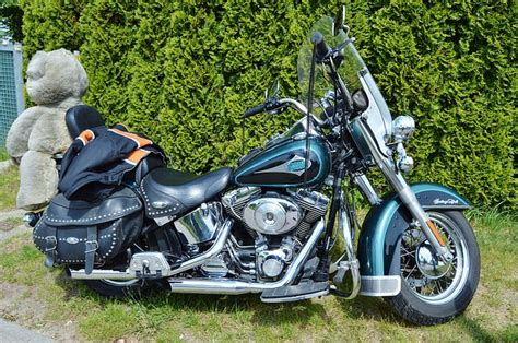 Motorcycle, Harley Davidson, Blue