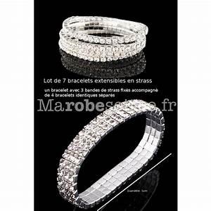 bracelet argente avec 7 bandes de strass extensible With robe de cocktail combiné avec bracelet pour charms argent