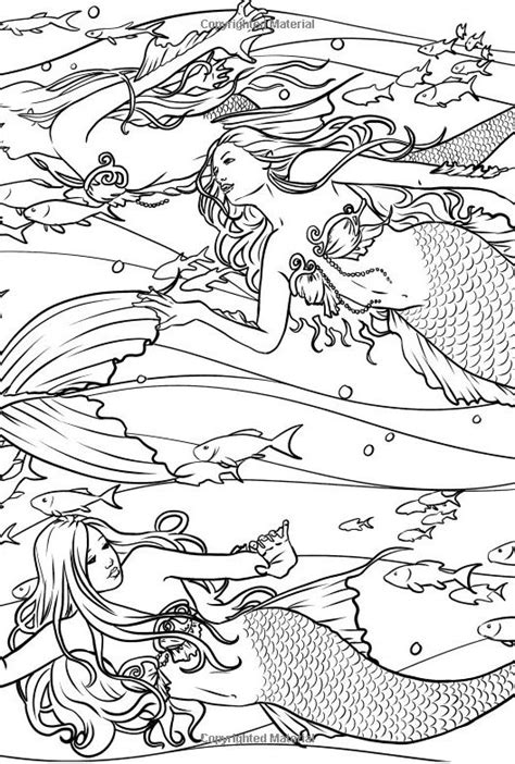 books mermaids calm ocean adult coloring book sincerely sweet boutique