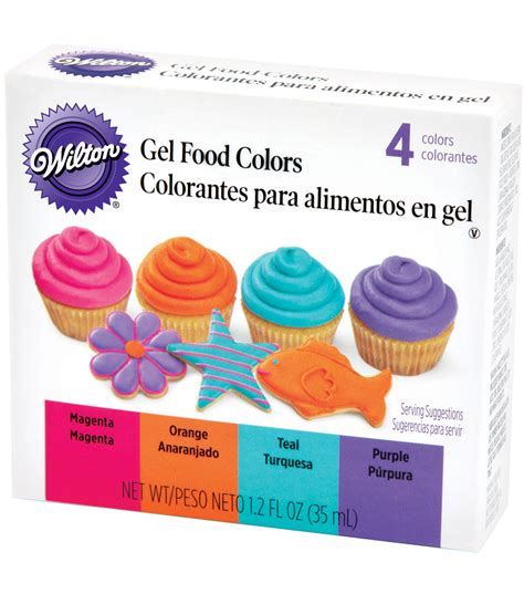 food colors wilton gel food coloring set 4 pkg neon at joann