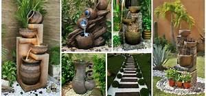 Rever De Jardin : une fontaine de jardin est tr s d corative et vous fait r ver regardez les plus beaux idees ~ Carolinahurricanesstore.com Idées de Décoration