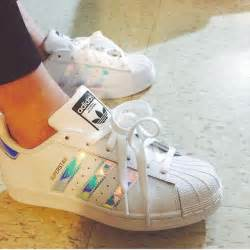 Holographic Adidas Superstar Shoes